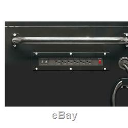 10-Drawer Deep Combination Tool Chest and Rolling Cabinet Set in Gloss Black
