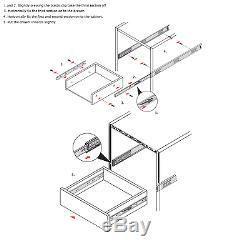 10 Pairs Full Extension 100-lb Ball Bearing Drawer Slides 14-22