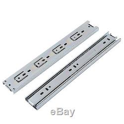 15/30 Pairs Ball Bearing Full Extension Drawer Glides/Slides Heavy Duty US MAX
