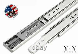 15 Pair 12-24 Soft Close Drawer Slides Ball Bearing Full Extension Value Pack