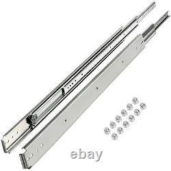16-60 Full Extension Ball Bearing Heavy Duty Drawer Slides Track Rail 500-lb