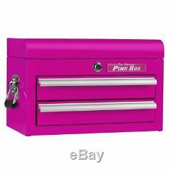 2-Drawer Pink Tools Top Chest Cabinet Storage Garage Steel Woman Mini Locking