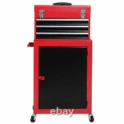 2 PCS Mini Tool Chest Cabinet Storage Box Rolling Garage Toolbox Organizer