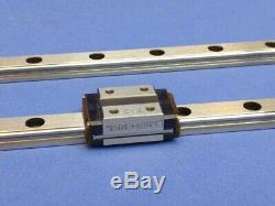 2 THK Model HSR Linear Slide Ball Bearing HSR10 Motion Guide Rails & Blocks Lot