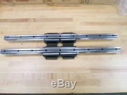 (2) Thk Linear Ball Bearing Slides, P/n Hsr20ca2ss+640l Newsurplus