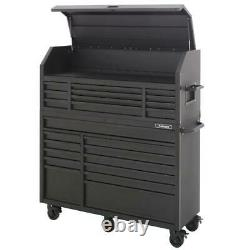 23-Drawer, Deep Combination Tool Chest and Rolling Cabinet Set in Matte Black