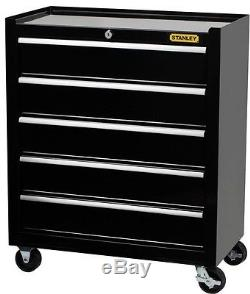 24 in 5 Drawer Ball Bearing Slide Tool Box Chest Storage Wheels Cabinet Keyed