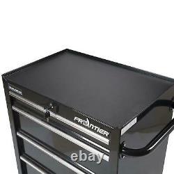 26 Inch 4 Drawer Bottom Chest Steel Tool Organizer Cabinet Type Black