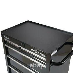 26 Inch 4 Drawer Bottom Chest Steel Tool Organizer Cabinet Type Black NEW