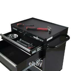 26 Inch 4 Drawer Bottom Chest Tool Organizer Welded Steel Cabinet Type Black New