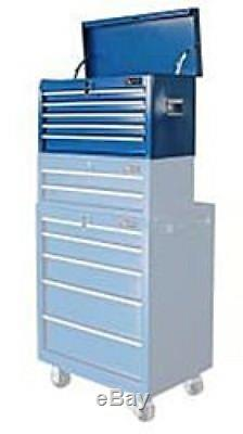 26 Inch 5 Ball Bearing Slide Drawer Top Tool Chest Storage Workshop Garage Blue