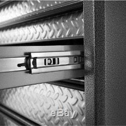 26 in. Middle Tool Chest 3-Drawer Storage Metal Keyed Lock Ball Bearing Slides