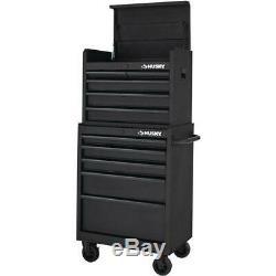 26 in W 5 Drawer Tool Chest in Textured Black Storage Organizer Tools Garage New