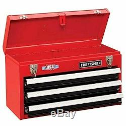 3-Drawer Tool Chest Ball Bearing Slides Gas Struts Keyed Locking System 23 Wide