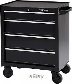 4 Drawer Rolling Tool Box Cabinet Storage with Smooth Slides, 26W