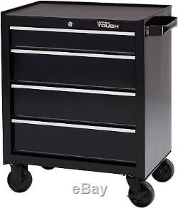 4-Drawer Rolling Tool Box Storage Garage Cabinet With Ball-Bearing Slides 26 in