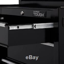 4-Drawer Rolling Tool Cabinet Ball-Bearing Slides Chest Mechanic Storage Black
