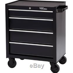 4-Drawer Rolling Tool Cabinet With Ball-Bearing Slides Garage Mechanic Boxes