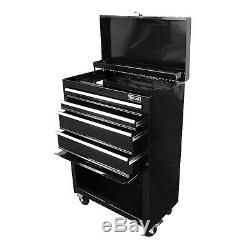 4 Drawer Steel Ball Bearing Slides Work Roller Tool Cabinet Chest Storage Space