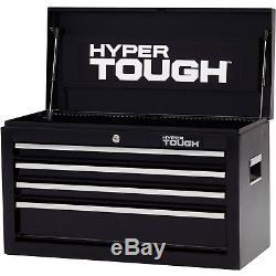 4-Drawer Tool Chest Ball-Bearing Slides Black Mechanics Garage Storage Cabinet