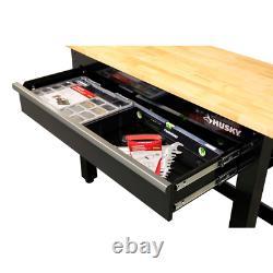 4 Ft. Solid Wood Top Work Bench Eco Friendly Beautiful Hardwood Lightweight
