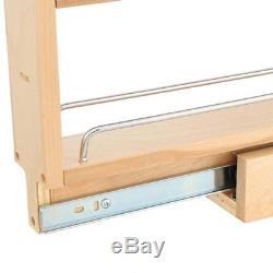 4 Shelf Pull-Out Storage Organizer Cabinet Base Filler Ball-Bearing Slide System