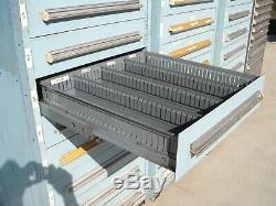 4 Stanley Vidmar Multi Drawer Vertical Storage Cabinets Ball Bearing Slide