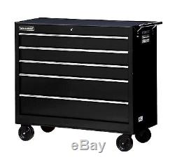 42-Inch Workshop Series Black Tool Cabinet with Ball Bearing Drawer Slides