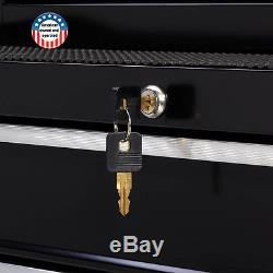 4Drawer Rolling Mechanics Tool Chest Garage Cabinet w Ball-Bearing Slides 26 W