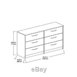 6-Drawer Dresser Metal Ball Bearing Slides Espresso Storage Chest Home Furniture