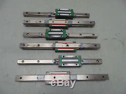 6 Hiwin Hg20 Cnc Linear Rail & 6 Ball Bearing/block/slide 340mm L X 20mm