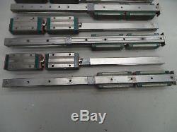 6 Hiwin Lg25 Cnc Linear Rail And & (12) Ball Bearings/blocks/slides 500mm