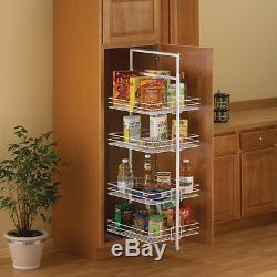 61-in. Tall Mount Pantry Roll Out Storage Drawer Slides, Heavy Duty Ball Bearing