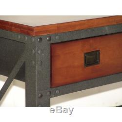 72 in. X 24 in. 3-Drawers Rolling Industrial Workbench and Wood Top