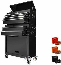 8 Drawer Rolling Tool Chest Detachable Tool Cabinet Sliding Metal Tool Organizer