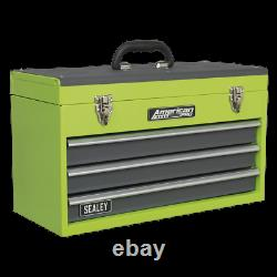 AP9243BBHV Sealey Tool Chest 3 Drawer Portable with Ball Bearing Runners Hi-Vis