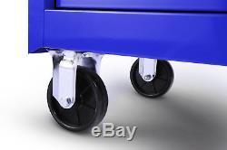 Aluminium Drawer Ball Bearing Slides Roller Cabinet Blue Tool Storage Craftsman