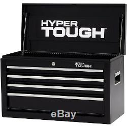 Auto Garage Tool Chest Storage Box 4-Drawer Lock with Ball-Bearing Slides
