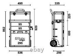 Beta C41H Two Module Mobile Tool Trolley Cabinet Tool Box Case Pit Lane