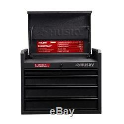 Black 5-Drawer Tool Chest Anti-Scratch Texture Ball Bearing Slide Garage Storage