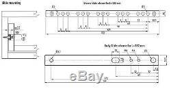 Box of 100 Ball Bearing Drawer Runners / Slides 17mm 342mm