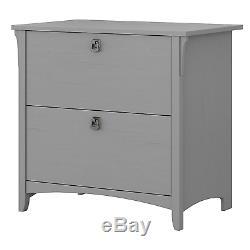Bush Furniture Salinas Lateral File Cabinet in Cape Cod Gray