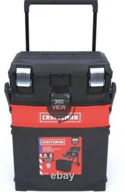 CRAFTSMAN 22-in 1-Drawer Red Plastic Metal Wheels Lockable Tool Box/NIB