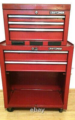 CRAFTSMAN 5-Drawer Ball-Bearing Steel Tool Chest Toolbox COMBO withKey