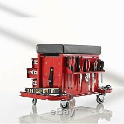 Combination Rolling Stool / Toolbox Three(3) Smooth-Gliding Drawers Steel Frame