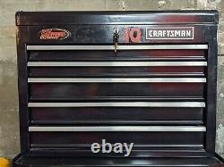 Craftsman 10 Drawer Rolling Tool Box Set black ball bearing stacked top