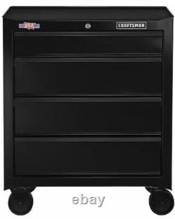 Craftsman 1000-Series 4-Drawer Steel Rolling Tool Cabinet 26.5-in W x 32.5-in H