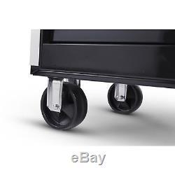 Craftsman 56 in. 10-Drawer Ball Bearing Slides Cabinet Hard Wood Top Tool Box