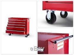 Craftsman Craftsman 42 in. 5-Drawer Ball Bearing Slides Roller Cabinet, Red
