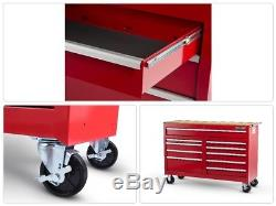 Craftsman Craftsman 54 in. 10-Drawer Ball Bearing Slides Roller Cabinet with Har